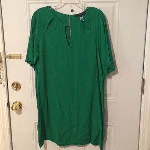BCBG Max Azria Jade Green Peephole Dress